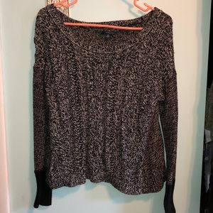 AEO Black&White heavy knit sweater